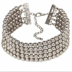 Jewelry - Silver Beaded Chocker Collar Necklace P3
